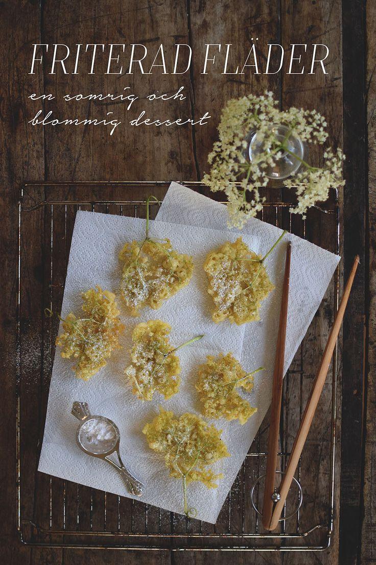 Fried elderflower, elderflower fritters, Friterade fläderblommor @helenalyth