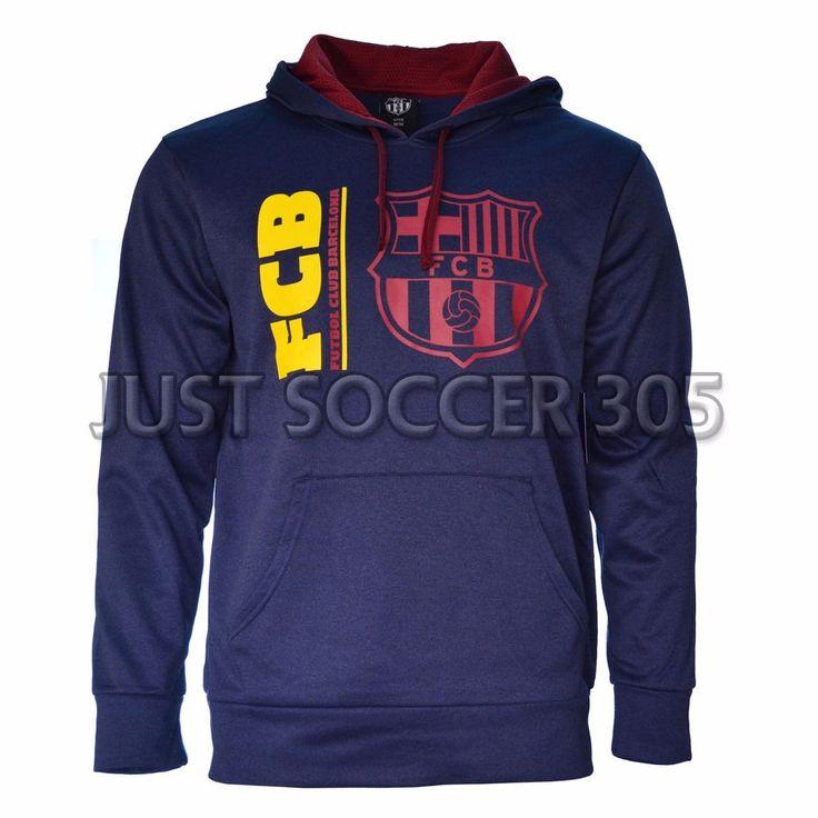 Barcelona Hoodie  fleece Jacket Soccer Adult Sizes Soccer Navy  Fc Barcelona #HKY #FCBarcelona