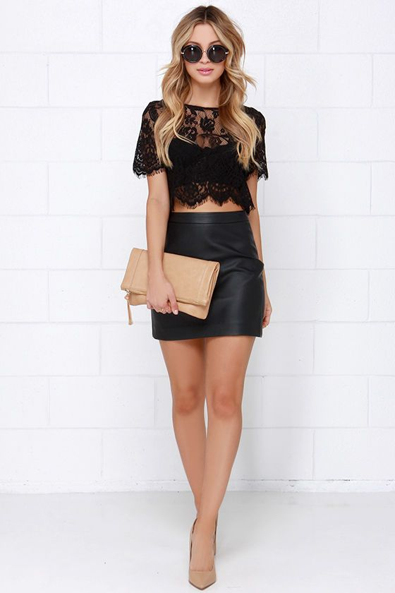 Achieve an effortlessly sexy look by pairing the Glamorous Slowly but Sheerly Black Lace Crop Top with your favorite jeans and a pair of heels! Sheer eyelash lace is chic and sophisticated as it forms a rounded neckline and delicate half sleeves with eyelash trim. A scalloped bottom hem finishes the straight-cut bodice. Exposed silver zipper at back. Unlined and sheer. 70% Cotton, 30% Polyester. Hand Wash Cold or Dry Clean.