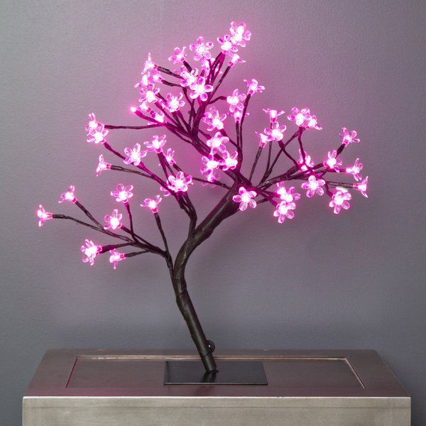 Sharpes Cherry Blossom Tree Accent 20 Table Lamp Cherry Blossom Tree Blossom Trees Wire Tree Sculpture
