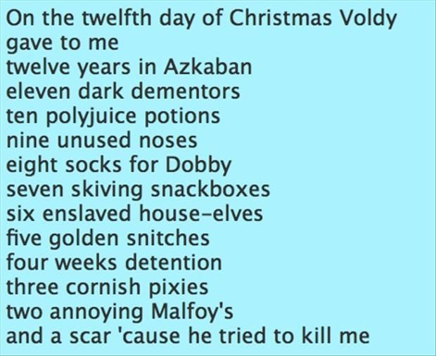 harry potter, 12 days of christmas