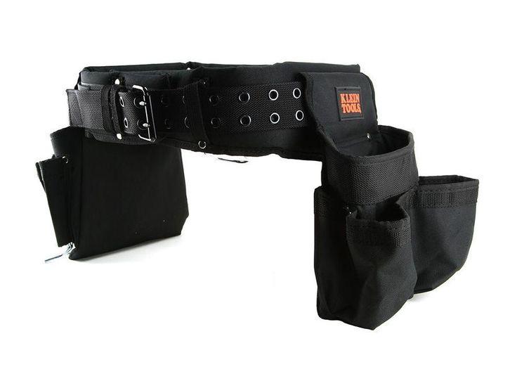 Klein Electricians Contractor Tools Storage Nylon Belt Bag Pouch, Black - 55298H #KleinTools