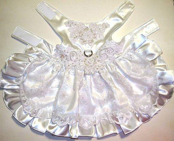 Fancy Dog Wedding Dress by LadybugsTreasures on Etsy for my little ring bearer