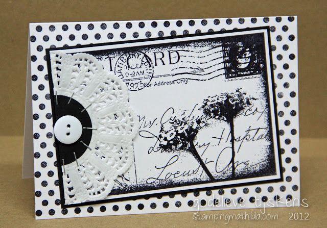 Card by Godelieve Tijskens using Darkroom Door 'Floral Post' Photo Stamp.
