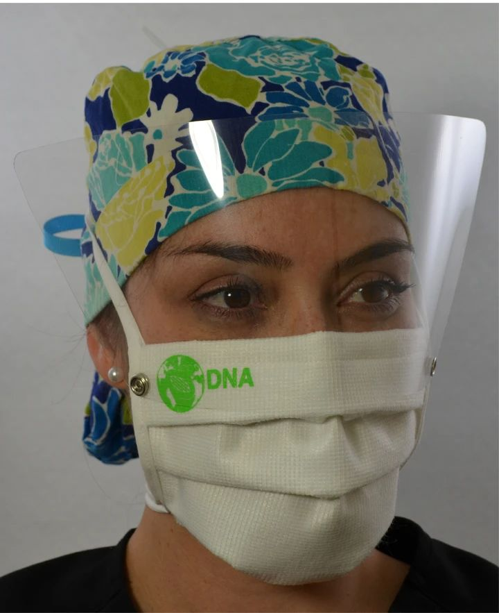 Lightweight face shield provides complete protection of