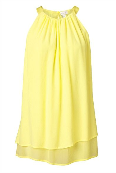 Layered Trapeze Top- I'd like to think this colour is called Lemon Sorbet #witcherywishlist