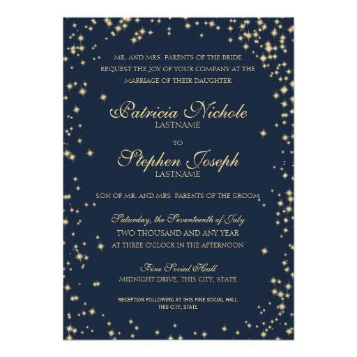 326 best evening wedding invitations images on pinterest midnight stars twinkle sky wedding card stopboris Images