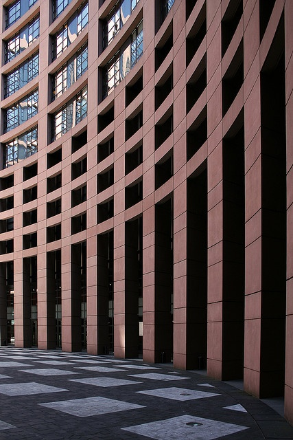 Courtyard of the European Parliament, Strasbourg, France. BEEN THERE!!!!