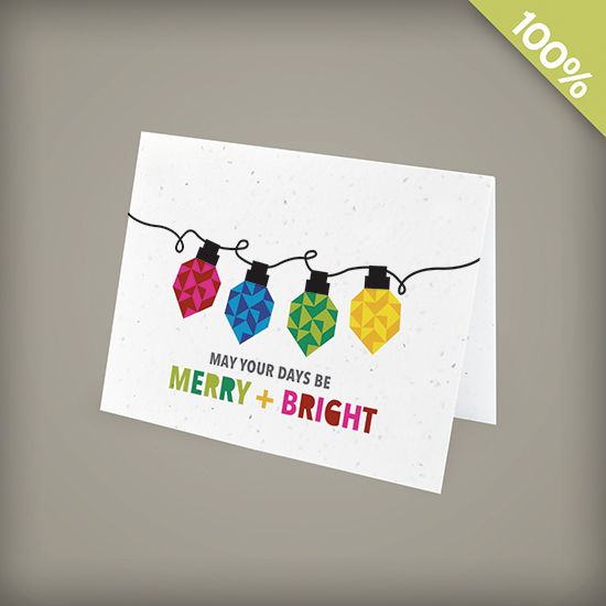 Merry and Bright Corporate Holiday Cards