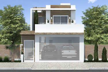 Planta terreno 6x25 casas plantas de sobrados casas for Casa moderna 2 andares 3 quartos