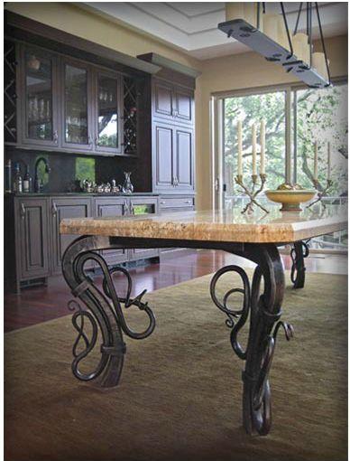 Custom Table by Red Iron Studio  http://www.redironstudios.com/