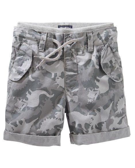 Toddler Boy Pull-On Dino Camo Print Poplin Shorts from OshKosh B'gosh. Shop clothing & accessories from a trusted name in kids, toddlers, and baby clothes.