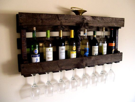 Unique Wine Rack Pallet Glass Bottle Dark Walnut Brown Or Natural No Color Eco Friendly By Thevineyards On