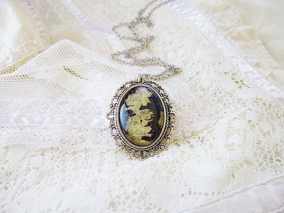 Game Of Thrones Map Westeros Map Game Of by SunandStarsJew3lry, $21.00