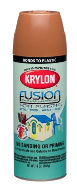 Finally, the perfect slightly off-white spray paint - Krylon Fusion for plastics & more comes in Satin Dover White - it exactly matches Benjamin Moore White Dove (my entire house's woodwork) and is perfect for frames, candlesticks, etc, look richly white, not snow white, and not cream!  Yay!