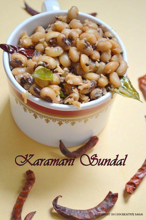 Spicy karam karamani sundal-navaratri recipe