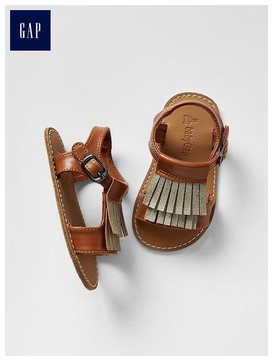 Fringe front sandals