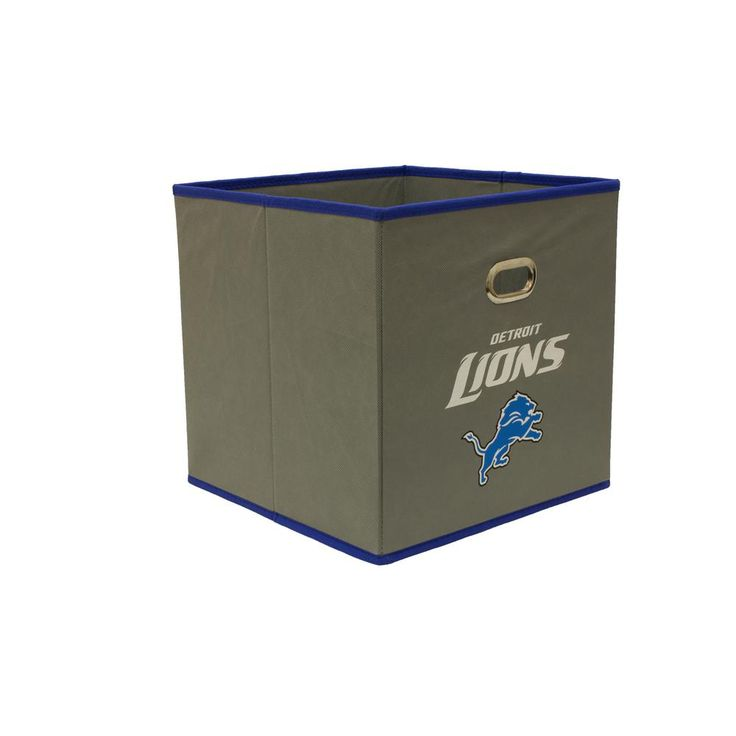 Detroit Lions NFL Store-Its 10-1/2 in. W x 10-1/2 in. H x 11 in. D Grey Fabric Drawer, Detroit Lions/Grey