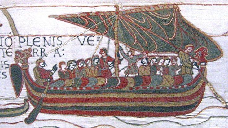 Knörr en el tapiz de Bayeux. (Urban)