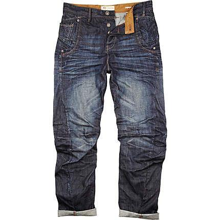 Dark wash Curtis slouch jeans $100.00
