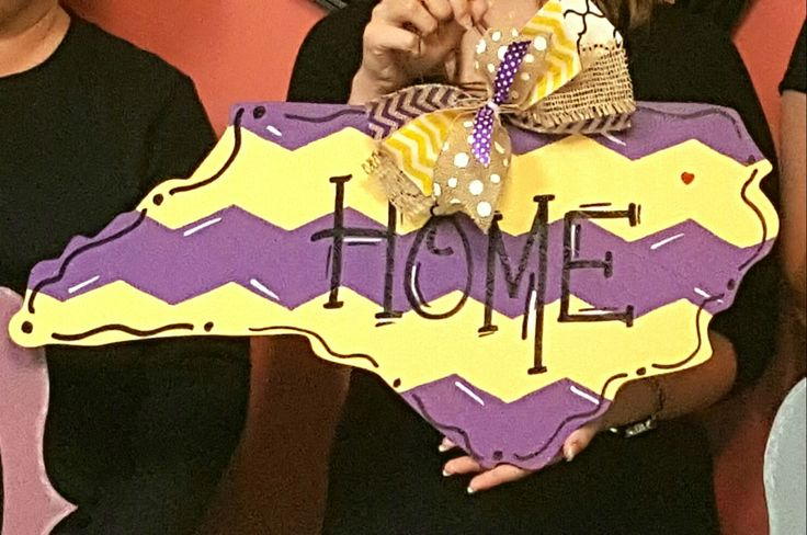 Wooden Door Hanger North Carolina ○ East Carolina University door hanger ○ Chevron door hanger ● painted at Craft Night Out located in Historic Downtown Statesville NC