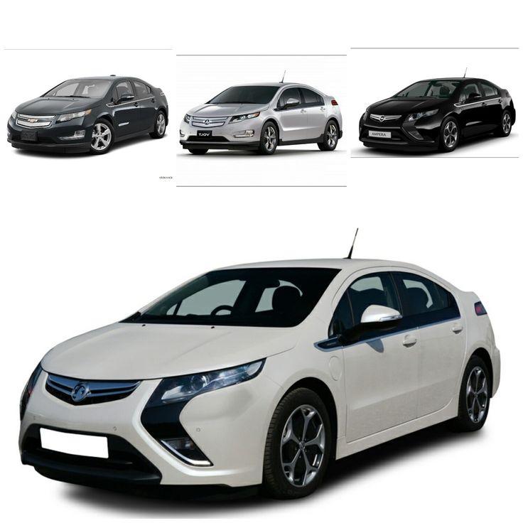 Chevrolet Volt (top left) - Holden Volt (top centre) - Opel Ampera (top right) - Vauxhall Ampera (bottom)