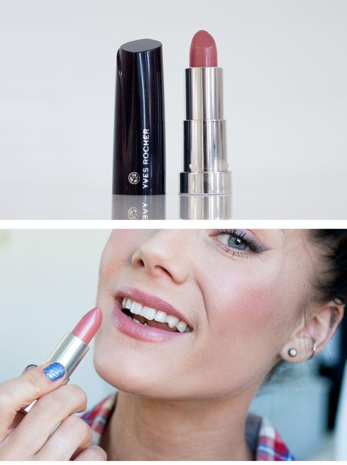"""Moisturizing cream lipstick från Yves Rocher i färgen """"Rose Galicia"""""""