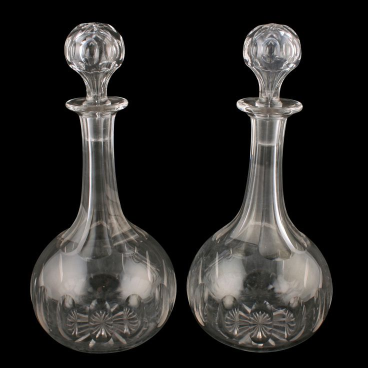 Pair of Victorian Glass Decanters