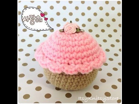 ▶ Crochet pattern for cupcakes - YouTube; this one looks the best and is the easiest too.