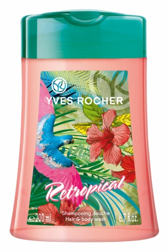 Let yourself be carried away by the solar and sensual freshness of this Retropical Hair & Body Wash. Enriched with Organic Cornflower Water and with a neutral pH, this 2 in 1 formula gently cleanses you body and hair. #summerbeauty #yvesrocherusa