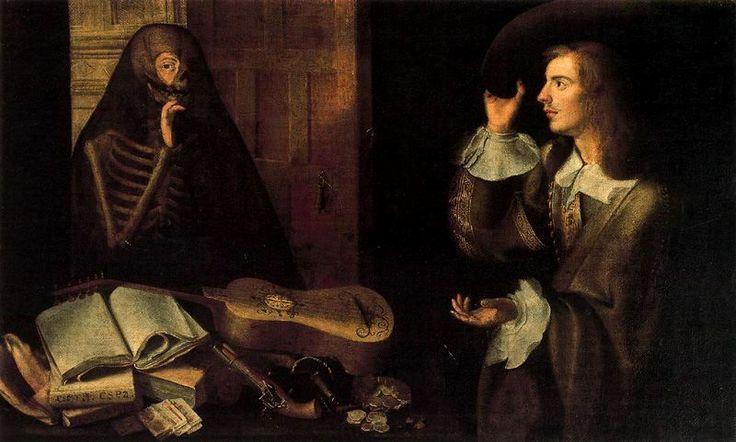 Pedro de Camprobín, Gentleman and Death, Seville, Hospital de la Caridad, c. 1650. Y1.jpg (800×481)