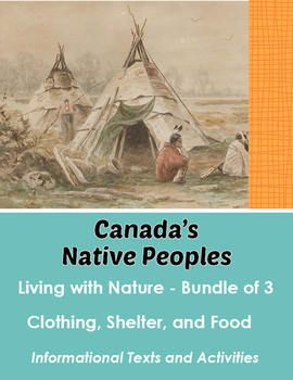This bundle includes three items listed in my store and available to purchase separately:  Living with Nature, Part 1 – Clothing Living with Nature, Part 2 – Shelter and Housing Living with Nature, Part 3 – Food  Each of these products comes with 1 or 2 reading passages with comprehension questions and activities.