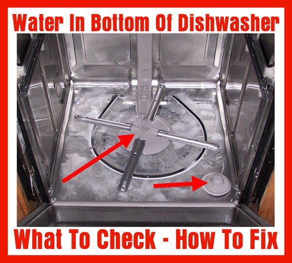 Water In Bottom Of Dishwasher How To Fix Dishwasher Cleaning Your Dishwasher Dishwasher Repair