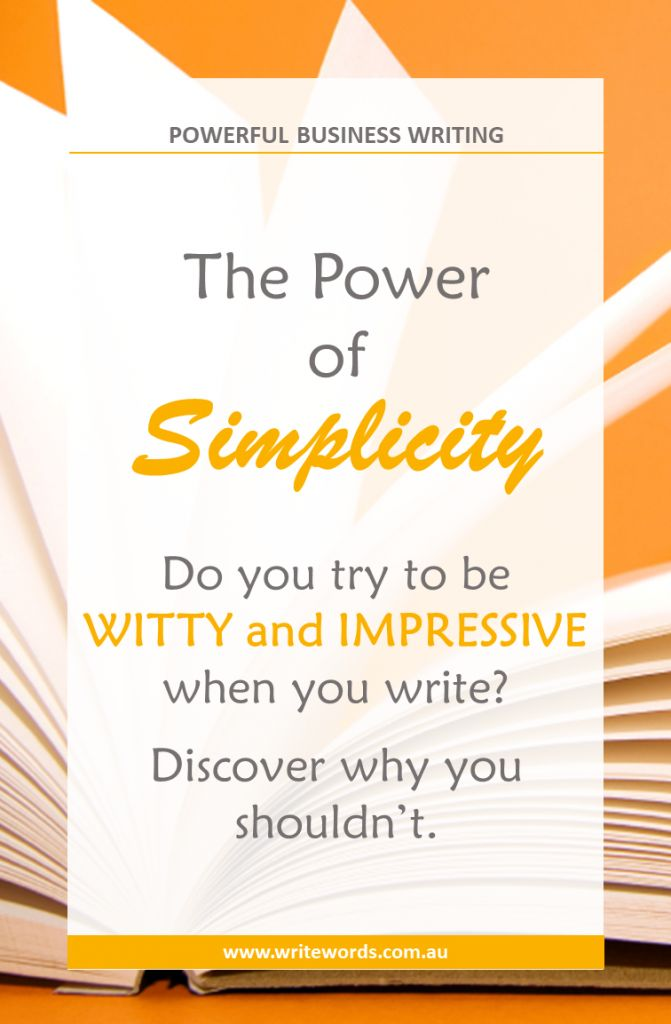 Discover why you should keep it simple when it comes to writing for business – and how this can help you stand out from the crowd #KISS #writingtips