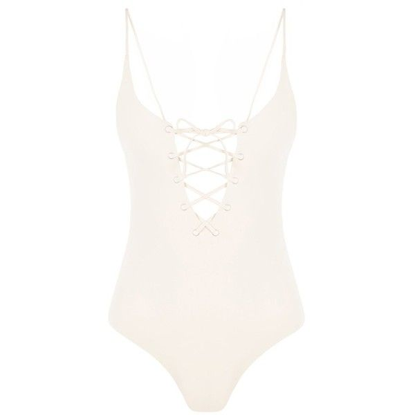 Tavik Monahan One Piece ($160) ❤ liked on Polyvore featuring swimwear, one-piece swimsuits, tavik swimwear, lace up one piece bathing suit, lace up swimsuit, one piece swim wear and lace one piece swimsuit