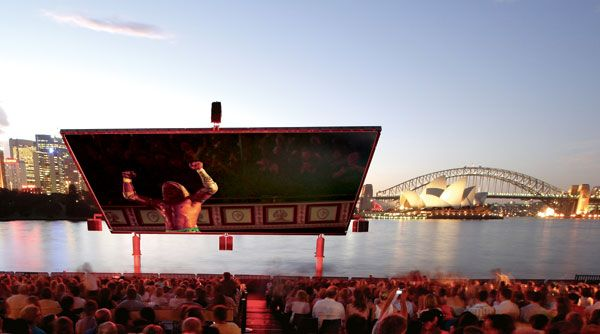 Probably the most stunning venue for an outdoor cinema. The St George Open Air Cinema takes place in January/February and overlooks the Bridge and Opera House. Tickets go on sale mid December and sell out very quickly.