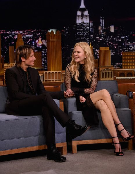 """Keith Urban and Nicole Kidman during a segment on """"The Tonight Show Starring Jimmy Fallon"""" at Rockefeller Center on November 16, 2016 in New York City."""