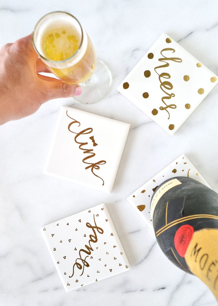 DIY Gold Gilded Coasters — Boxwood Avenue