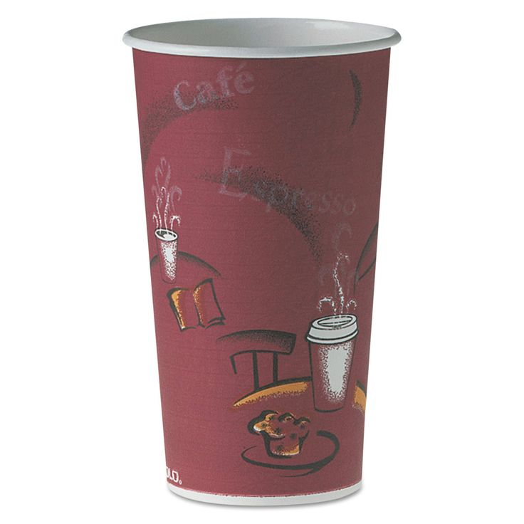 Solo Cup Company Polycoated Hot Cups 20-ounce Bistro Design 600/Carton
