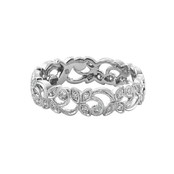 18 - carat white gold and diamond floral band.  www.kellerwood.com