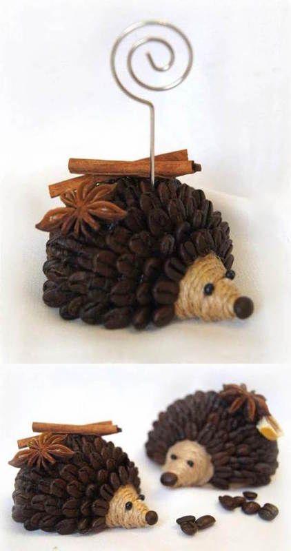 DIY kávový ježek   Zepire   Handmade na prodej