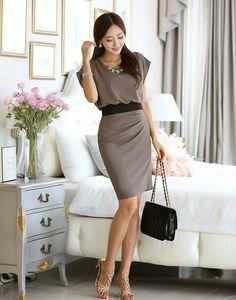 Resultado de imagem para faldas coreanas elegantes