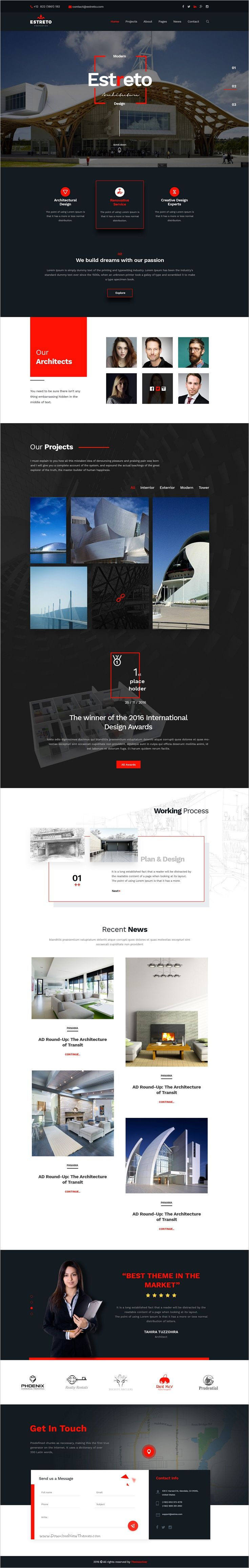 Estreto is a wonderful #PSD #Template for Real Estate, #Property, Architecture or Construction company #websites with 9 homepage layouts and 26 organized PSD pages download now➩ https://themeforest.net/item/estreto-real-estate-property-architecture-construction-psd-template/18528180?ref=Datasata