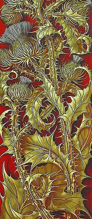 Art Nouveau, Anton Seder Thistle 1890