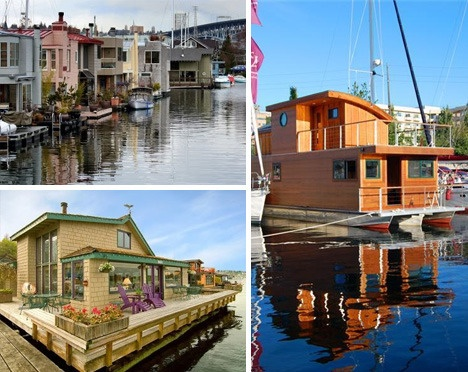 House Boats In Seattle Floating Homes Pinterest Tvs