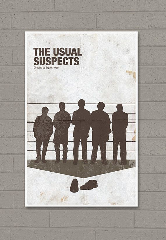 The Usual Suspect Movie Poster Print 11X17 by sanasini on Etsy, $18.00