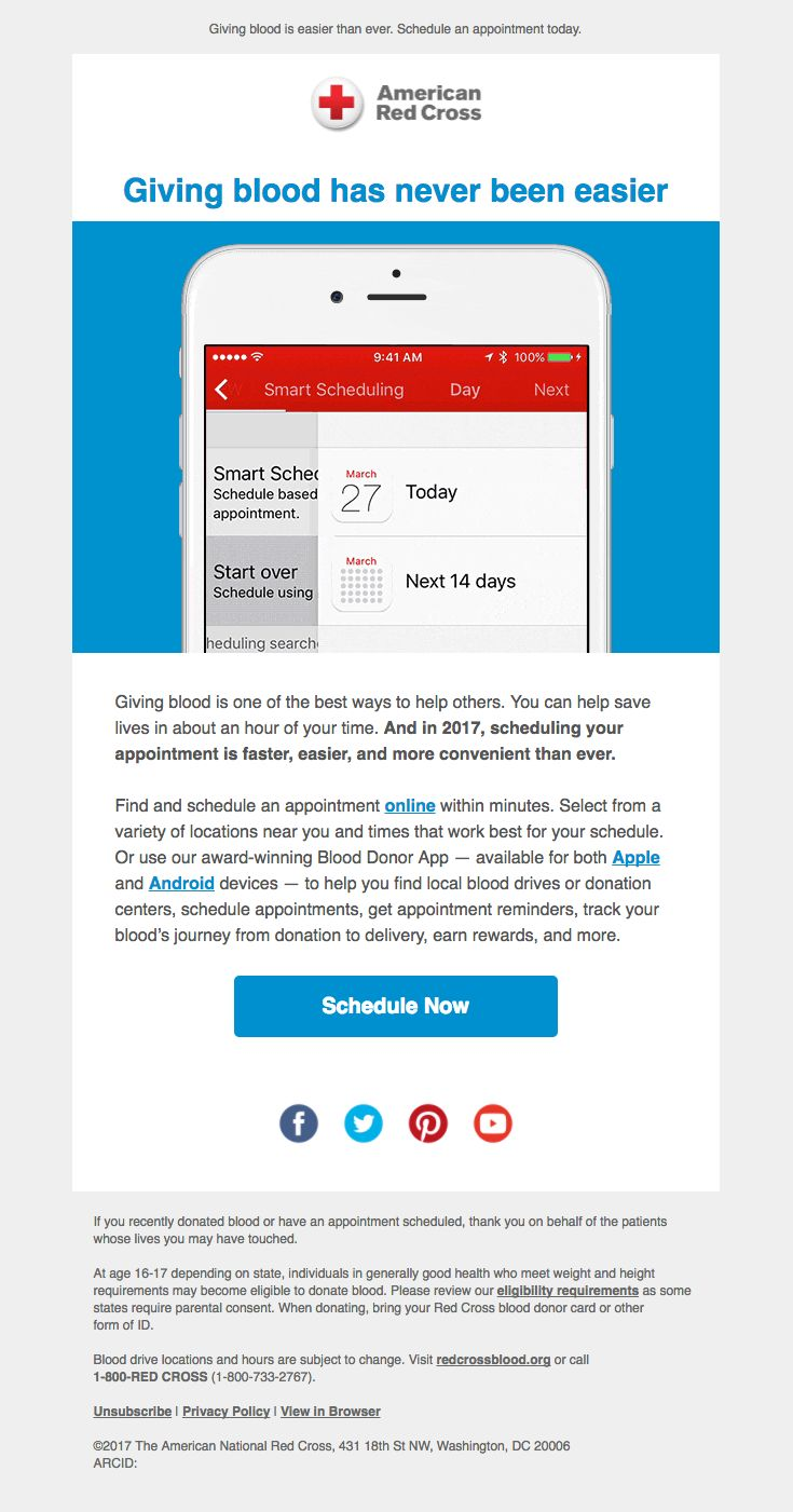 198 best email design images on pinterest email design email amredcross sent this email with the subject line give its never been easier nvjuhfo Choice Image