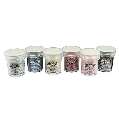 Wow! Glitter Embossing Powder 6 Piece Set - Vintage Collection in Crafts, Stamping & Embossing, Embossing Powders | eBay