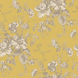 wall paper for Amy's room. B&Q http://www.diy.com/nav/decor/wallpaper-wall-stickers/wallpaper/yellows/Fleurette-Wallpaper-in-Gold-by-Arthouse-Vintage-12389140