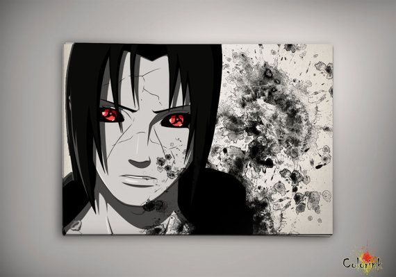 Naruto Shippuuden Uchiha Itachi Watercolor Print 8x10 Archival Print - Art Print - Wall Decor Art Poster- Anime Print- Manga -Cartoon on Etsy, 62,25 zł